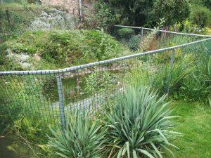 Siatka kontenerowa w ogrodzie